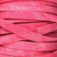 Faded Denim 10mm Flat Knit Cord - Cerise