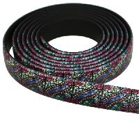 Fantasy 10mm Flat PVC Cord - Stained Glass - per inch
