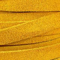 Suede 10mm Flat Cord - Mustard