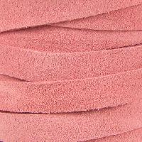 Suede 10mm Flat Cord - Pink