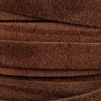 Suede 10mm Flat Cord - Brown