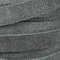 Suede 10mm Flat Cord - Grey