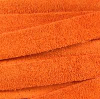 Suede 10mm Flat Cord - Orange - per inch