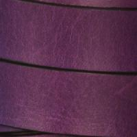 15mm Flat Leather Cord - Deep Purple - per inch
