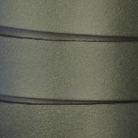 15mm Flat Leather Cord - Hunter Green - per inch