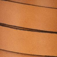 15mm Flat Leather Cord - Tobacco - per inch