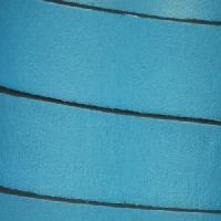 15mm Flat Leather Cord - Turquoise