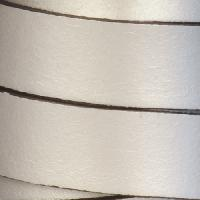 15mm Flat Leather Cord - Metallic Antique Silver - per inch