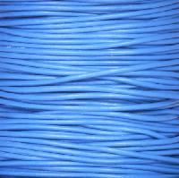 1.5mm Round Leather Cord - Blue