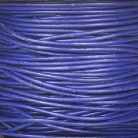 1.5mm Round Leather Cord - Royal Blue