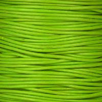 1.5mm Round Leather Cord - Apple Green - per yard
