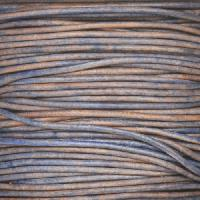 1.5mm Round Leather Cord - Natural Blue