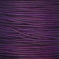 1.5mm Round Indian Leather Cord - Natural Pansy - per yard