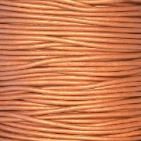 1.5mm Round Indian Leather Cord - Metallic Bronze - per yard