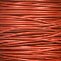 1.5mm Round Indian Leather Cord - Metallic Russet - per yard