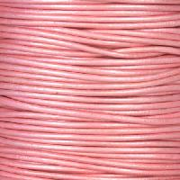 1.5mm Round Indian Leather Cord - Metallic Mystique Pink - per yard