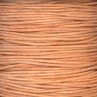 1mm Round Indian Leather Cord - Natural - per yard