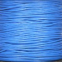 1mm Round Leather Cord - Blue