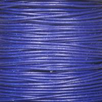 1mm Round Leather Cord - Royal Blue