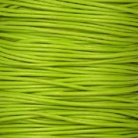 1mm Round Leather Cord - Apple Green