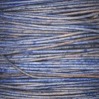 1mm Round Leather Cord - Natural Blue