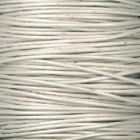 1mm Round Leather Cord - Metallic Pearl