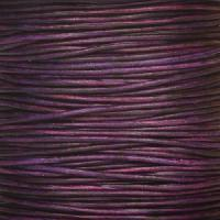 1mm Round Indian Leather Cord - Natural Pansy - per yard