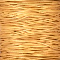 1mm Round Leather Cord - Metallic Gold