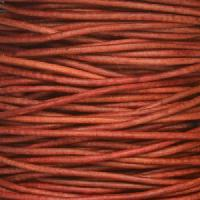 1mm Round Indian Leather Cord - Natural Primrose - per yard