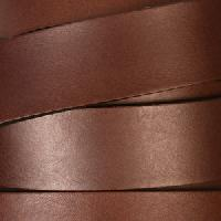 20mm Flat Leather Cord per 3 feet - Dark Brown