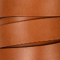 20mm Flat Leather Cord per 3 feet - Tan