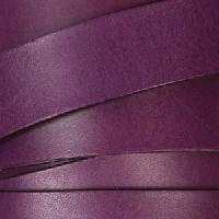 20mm Flat Leather Cord - Purple - per inch