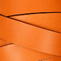 20mm Flat Leather Cord - Orange - per inch