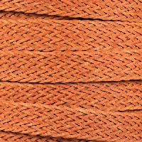 Braided Bonded 20mm Flat Leather Cord - Orange