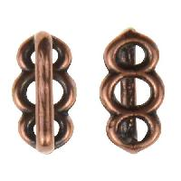 B&B Benbassat 5mm Circles Flat Leather Cord Slider - Antique Copper