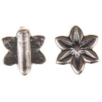 B&B Benbassat 5mm Daisy Flat Leather Cord Slider - Antique Silver
