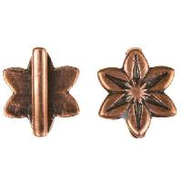 B&B Benbassat 10mm Daisy Flat Leather Cord Slider - Antique Copper