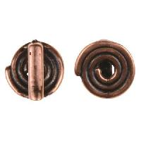 B&B Benbassat 5mm Spiral Flat Leather Cord Slider - Antique Copper