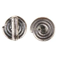 B&B Benbassat 5mm Spiral Flat Leather Cord Slider - Antique Silver