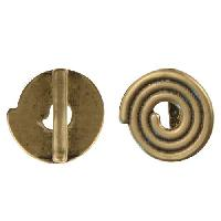 B&B Benbassat 10mm Spiral Flat Leather Cord Slider - Antique Brass