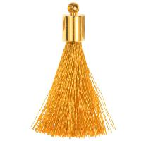 30mm Tassel Gold Plated Cap - Gold