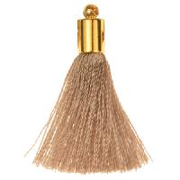 30mm Tassel Gold Plated Cap - Gray