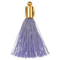 30mm Tassel Gold Plated Cap - Periwinkle