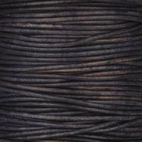 2mm Round Leather Cord - Natural Pacific
