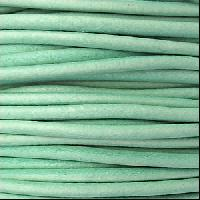 2mm Round Euro Leather Cord per 25M SPOOL - Distressed Teal