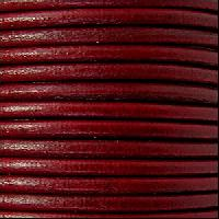 2mm Round Euro Leather Cord per 25M SPOOL - Bordeaux