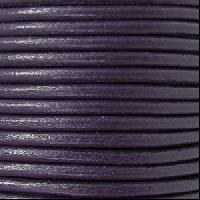 2mm Round Euro Leather Cord - Purple - per foot
