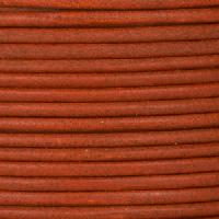 2mm Round Mediterranean Leather Cord - Rust - per foot