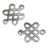 2mm round CHINESE KNOT slider ANTIQUE SILVER