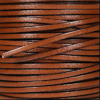 3mm Flat Leather Cord - Tan - per inch